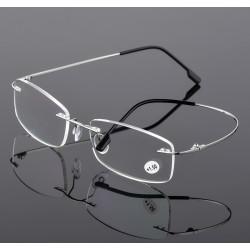 Ултра леки безрамкови очила със много тънки и еластични дръжки задушници което ги прави почти невидими на лицето