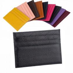 Супер тънък кожен портфейл за карти и банкноти с тегло само от 23 грама и изключително тънък и компактен дизайн с избор от 9 цвята