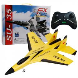 Самолет бомбардировач с дистанционно управление, страхотен глайдър задвижван с перки, акумулаторна батерия и дистанционно, радио управляем модел изработен от пяна