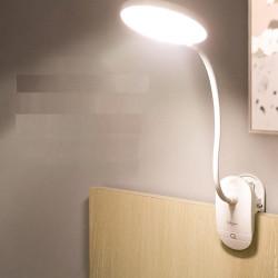 Безжична огъваема лед лампа с USB зареждане, лампа за бюро, лампа за легло, лампа с щипка и огъваема стойка и тъч бутон с 3 степени на яркост