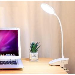 Безжична огъваема лед лампа с USB зареждане, лампа за бюро,  нощна лампа с щипка, огъваема стойка и тъч бутон с 3 степени на яркост