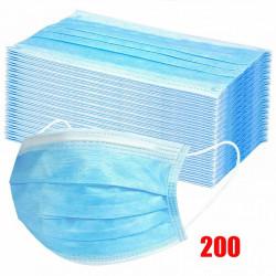 Медецински предпазни маски с филтър с до 90% защита, леки и удобни, с разтегливи връзки без напрежение върху ушите, пакети от 10 до 400 бр