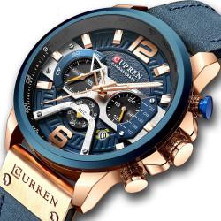 Масивен мъжки хронограф, спортно елегантен часовник с ефектен дизайн, който ще стои стабилно на ръката ви