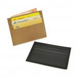 Мини портмоне от естествена кожа с компактен и функционален дизайн с 6 отделения за карти и джоб за банкноти и монети в 19 различни цвята