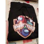 Универсален суичър, блуза с качулка с героите от играта AMONG US - IMPOSTORS, бял или черен суичър тип анорак с цветен принт от апа Сред Нас Самозванци Импосторс