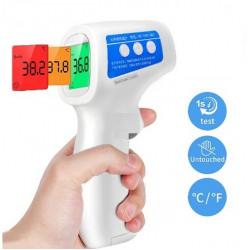 Безконтактен дигитален инфраред термометър, измервайте лесно и без докосване температура на тялото за възръстни, бебета и деца с този дигитален термометър проверявате телесна температура само за 2 секунди