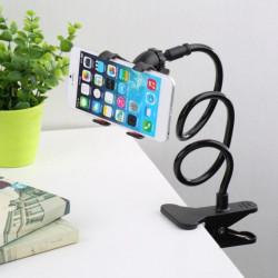 Универсален угаваем държач стенд за телефон този статив стойка за телефон е стнабден с щипка за плотове на маса, бюро, легло и др. и движение и нагласяне на 360 градуса