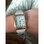 Дамски часовник в квадратна форма със стилна лачена каишка имитация на крокодилска кожа с избор от 4 цвята