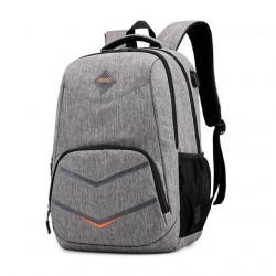 Стилна раница за училище, чанта за работа или екскурзия със изход за USB зарежане на телефони и други устройства с избор от 4 цвята