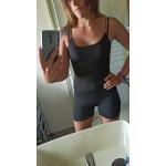Секси екипче боди и клин в едно с тънки връзки презрамки на гърба, подходящо за ежедневието, спорт, дрехи за парти клуб