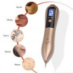 Електрически уред с лед лампа във формата на химикал за премахване на бенки, татуировки,  лунички, тъмни петна, брадавици в домашни условия.