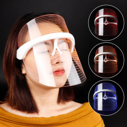 3 в 1 LED маска за лице с 3 вида лед светлини, против бръчки , против акне и против тъмни петна по кожата.