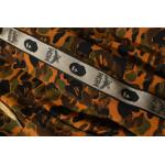 Памучен суичър с качулка BAPE x MCM в кафяв цвят с голям камуфлажен принт и ленти на ръкавите