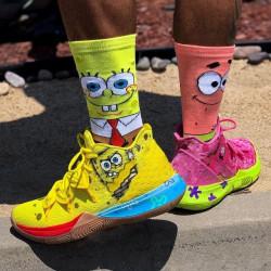 Памучни чорапи с героите от анимационния филм Спондж Боб Sponge Bob, чорапи с цветни принтове за още по-забавно ежедневие