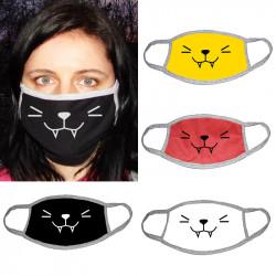 Двуслойна маска за лице за многкратна употреба със сладка emoji картинка