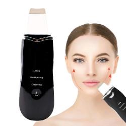 Мултифукционална електрическа шпатула 3 в 1 за дълбоко почистване, лифтинг, хидратация с йонофореза и отстраняване на мъртва кожа, самозареждащ се ултразвуков уред за пилилинг.