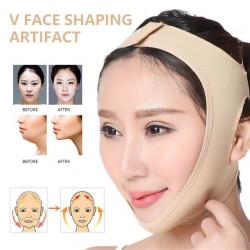 Еластичен коректор за лице с лифтинг ефект, самозалепващ бандаж за стягане на лицето против   двойна брадичка, овиснала кожа и двойна гуша.