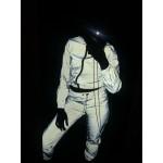 Секси екипче горнище и долнище в 100% светлоотразяваща материя която свети в тъмното при насочена към вас светлина, хип хоп стил светещ в тъмното екип