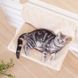 Висококачествен хамак стоянка легло за котка със закачалка за радиатор или ограда, меко и оютно висящо легло стойка за котки