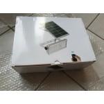 Мощен водоустойчив прожектор дворна лампа с 65 или 45 диода, супер силна светлина 12W 1500 лумена, със собствен соларен панел и комплект за монтаж с дистанционно управление