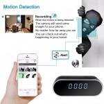 Шпионска камера скрита в настолен електронен часовник с висока резолюция Full HD 1080p функция нощно заснемане и запис на microSD карта и гледане през интернет на телефона
