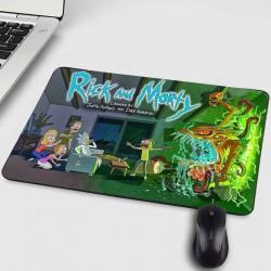 Мека подложка за мишка гумиран гръб против хлъзгане с цветен принт RICK and MORTY и избор от 7 вида Рик и Морти