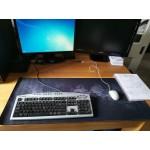 Голяма мека подложка за мишка и клавиатура с гумиран гръб против хлъзгане и принт на картата на света маус пад с размери до 120см