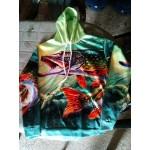 Блуза с качулка за рибари и феновете на риболова, суичър анорак с цветен принт на риба, сом, щука с избор от 9 вида