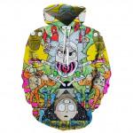 Унисекс блуза с качулка RICK AND MORTY суичър анорак с цветен принт с героите от филма и 15 различни вида