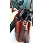 Луксозна дамска чанта имитация на кожа от алигатор с презрамка за рамо, голям обем, високо качество и избор от 3 цвята