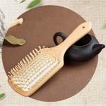 Дървена антистатична четка гребен масажор за коса, подобрява значително кръвообръщението в скалпа и с гарантиран ефект предпазва от косопад