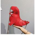 Дамска чанта във формата на динозавър с презрамка верижка, клъч бег чантичка с верига, три различни цвята