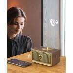 Мини безжична блу тут колонка спийкър със стилен ретро дизайн, може да се ползва на открито, страхотно качество на звука