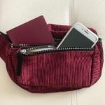 Чантичка за рамо или за кръста, 2 ципа и 100см презрамка, мек памучен плат и избор от 6 цвята