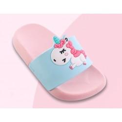 Симпатични чехли еднорог джапанки unicorn за малки и големи, много мека подметка с покритие против хлъзгане/пързаляне