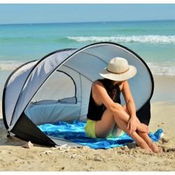 Компактен заслон тента мини палатка и сенник за плаж, за парка или пикник на открито, с UV защита и отвор за въздух