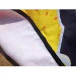 Микрофибърна плажна кърпа хавлия за плаж с принт и форма на бутилка бира с размер 180см х 72см