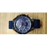 Модерен мъжки часовник хронограф, подходящ за бизнес срещи и свободно време, водоустойчив, светещи часове и стрелки