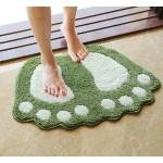 Килимче постелка за баня или стая с формата на големи крака на йети, стъпки с покритие против хлъзгане и много високо ниво на абсорбация на вода в 8 различни цвята