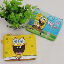 Мини портмоне Спънж Боб SpongeBob с 3Д щампа на спонджбоб и морското дъно