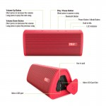 Преносима Водоустойчива IPX5 безжична Блутут стерео тонколона и музикален плейър - мощност 10W, съвместима с всички Блутут устройства