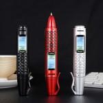 Мултифункционален Мини мобилен телефон Химикалка GSM с цветен екран, камера, микрофон, фенерче, видео и музикален плейър, радио, Блутут, слот за памет -  поддръжка на две SIM карти, 2G