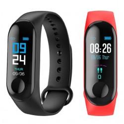 Многофункционална спортна смарт гривна и часовник с цветен дисплей - измерване на пулс, налягане, крачкомер и други