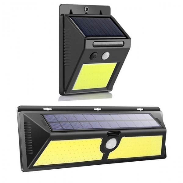 Водоустойчива LED соларна лампа със смарт сензор за движение за външен монтаж на стена за градината или двора