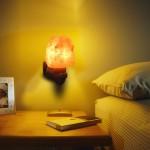 Хималайска солна лампа, стилна декоративна лампа от естествена сол за дома или офиса, лампа от хималайска сол