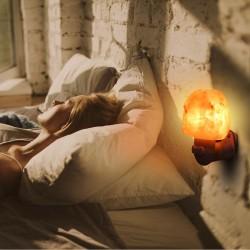 Хималайска солна лампа, стилна декоративна лампа от естествена сол за дома или офиса