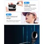 Мини безжична блутут слушалка-тапа с микрофон за хендсфри разговори и кутия за зареждане за всички модели телефони с блутут