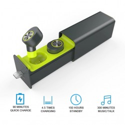 Мини безжични блутут стерео хендсфри слушалки-тапи с HD микрофон за всички модели телефони с блу тут