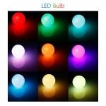 Цветна RGB затъмняваща LED крушка с дистанционно управление с за смяна на 16 различни цветове и режима на работа