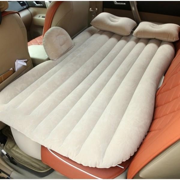 Надуваемо легло за кола, матрак за кола с възглавнички, туристическо легло с автоматична помпа и комплект за поправка